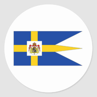 Sweden Royal Standard Classic Round Sticker