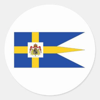 Sweden Royal Standard Round Sticker