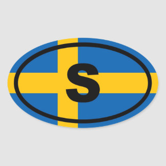 Sweden S European Oval Sticker