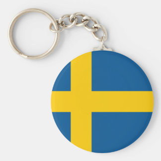 Sweden SE Basic Round Button Key Ring