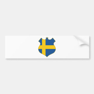 Sweden-shield.png Bumper Sticker