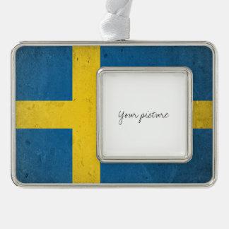Sweden Silver Plated Framed Ornament