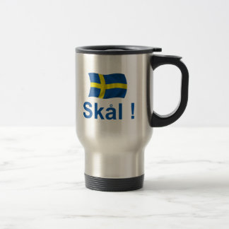 Sweden Skal! Stainless Steel Travel Mug
