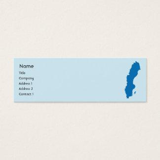 Sweden - Skinny Mini Business Card