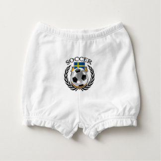 Sweden Soccer 2016 Fan Gear Nappy Cover