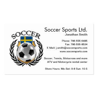 Sweden Soccer 2016 Fan Gear Pack Of Standard Business Cards