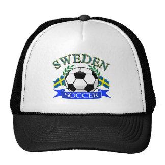 Sweden soccer ball designs mesh hat