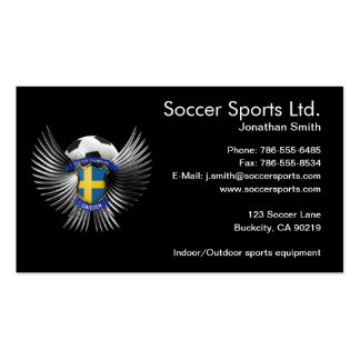 Sweden Soccer Champions Business Card Template