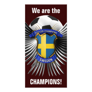 Sweden Soccer Champions Photo Greeting Card
