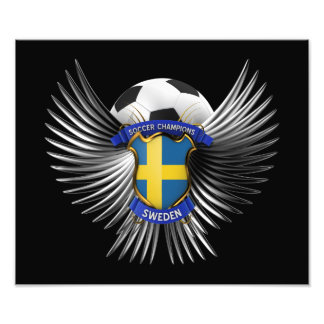 Sweden Soccer Champions Photographic Print