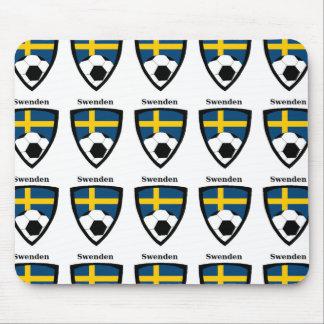 Sweden Soccer Mouse Pad