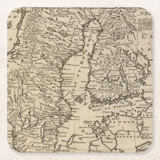 Sweden Square Paper Coaster