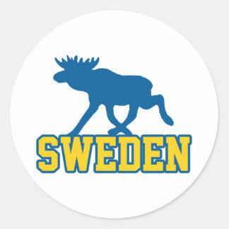 Sweden Round Sticker