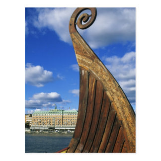Sweden, Stockholm, harbor, from Gamla Stan, Postcard