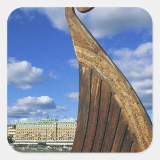 Sweden, Stockholm, harbor, from Gamla Stan, Square Sticker