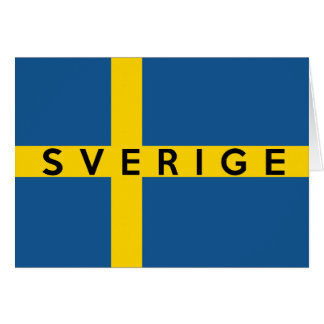 sweden sverige flag country swedish text name card