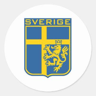 Sweden Sverige Round Stickers