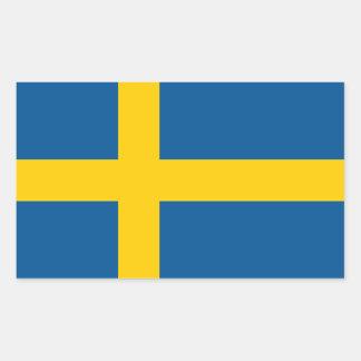 Sweden/Swede/Swedish Flag Rectangular Sticker
