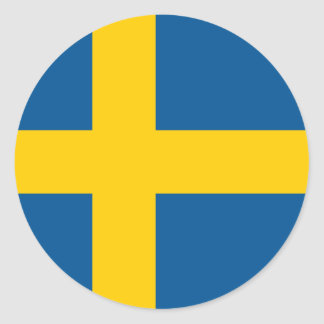 Sweden/Swede/Swedish Flag Round Sticker