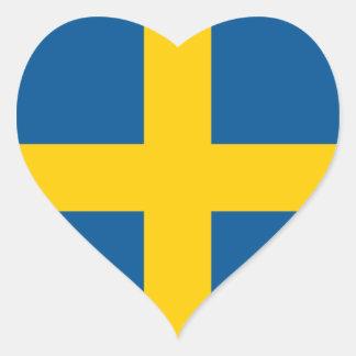 Sweden/Swede/Swedish Flag Heart Sticker