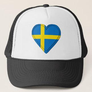 Sweden Swedish Flag Trucker Hat