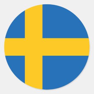 Sweden - Swedish National Flag Round Sticker