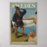 Sweden Vintage Travel Poster Ad Retro Prints