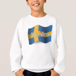Sweden Waving Flag Sweatshirt