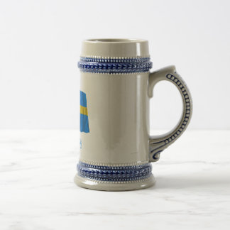 Sweden Waving Flag with Name Mugs