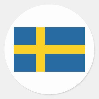 Sweden's Flag Round Sticker
