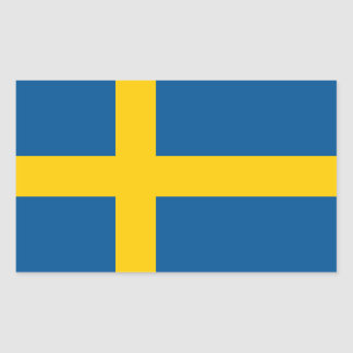 Sweden's Flag Rectangular Sticker