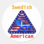 Swedish-American Moose Round Sticker