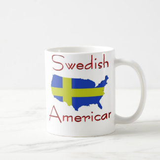 Swedish American (USA Map) Mug