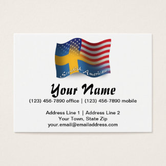 Swedish-American Waving Flag Business Card