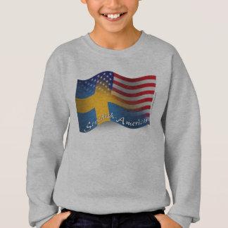 Swedish-American Waving Flag Sweatshirt