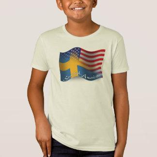 Swedish-American Waving Flag Tees