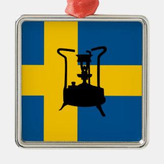 Swedish brass pressure stove ornament