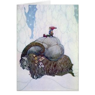 Swedish Christmas Goat: Julebukking -Yuletide Card
