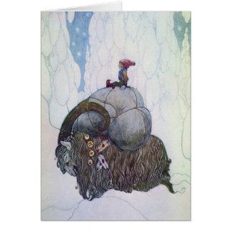 Swedish Christmas Goat - Jullbocken Greeting Card