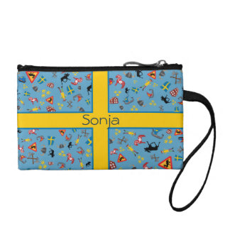 Swedish culture items with flag change purse