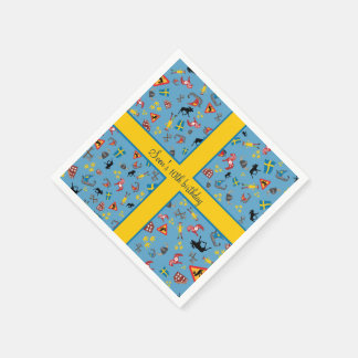 Swedish culture items with flag disposable napkins