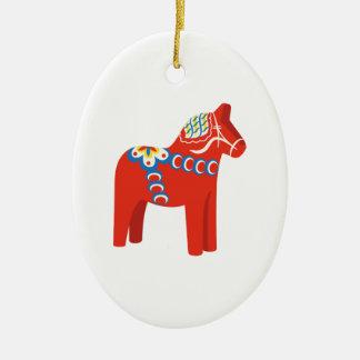 Swedish Dala Horse Christmas Ornament