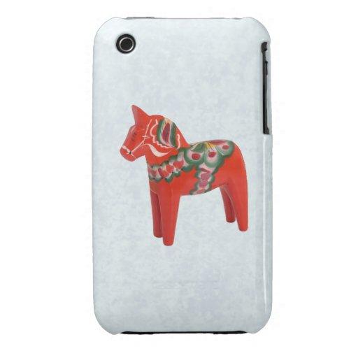 Swedish Dala Horse  Folk Art Case-Mate iPhone 3 Case