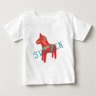 Swedish Dala Horse gifts & greetings Baby T-Shirt