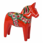 Swedish Dala Horse Scandinavian Photo Sculpture Decoration