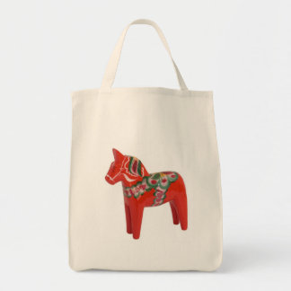 Swedish Dala Horse Scandinavian Tote Bag
