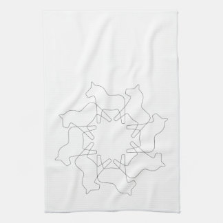 Swedish Dala Horse Snowflake Tea Towel