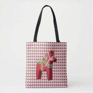 Swedish Dala Horse Tote Bag