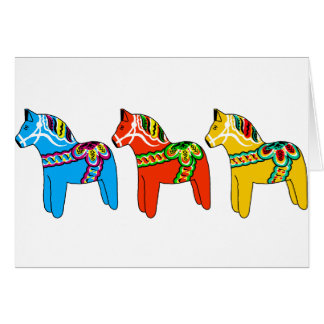 Swedish Dala Horses Card