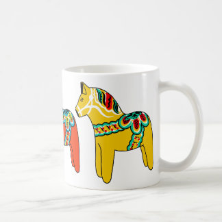 Swedish Dala Horses Coffee Mug